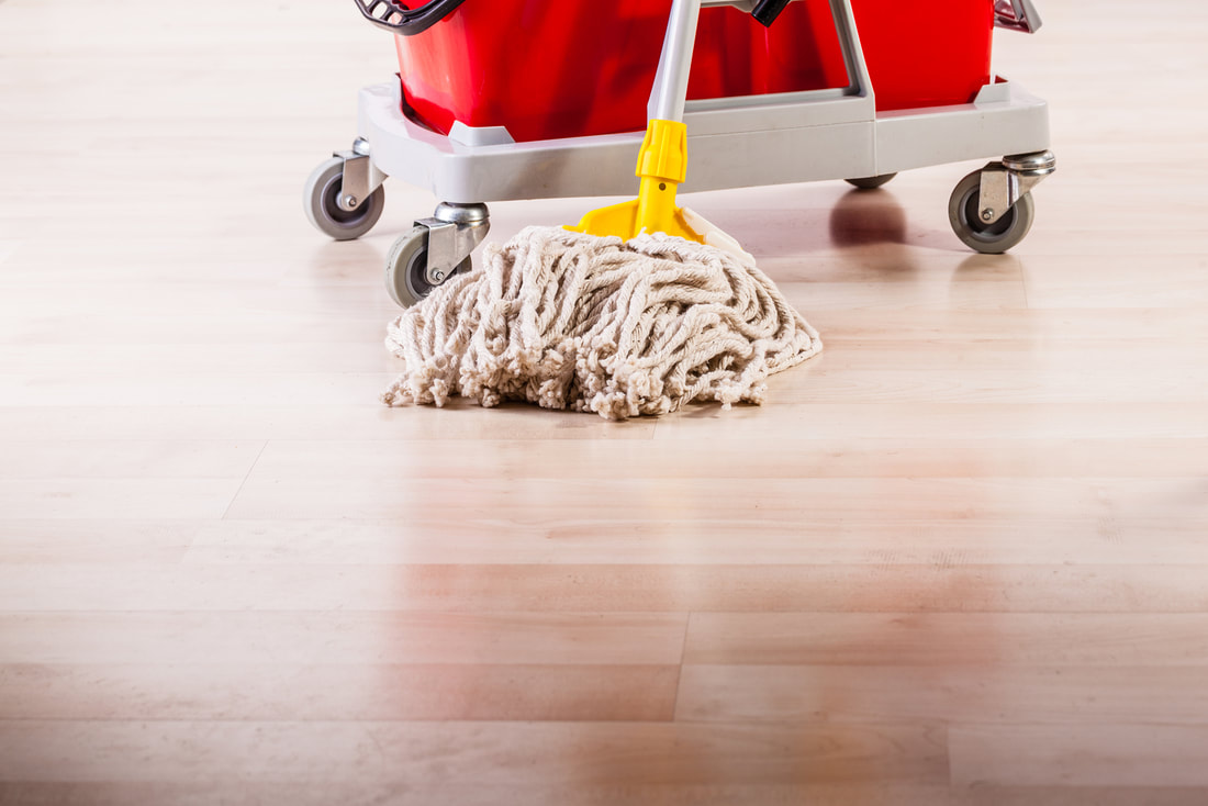 Mopping hardwood